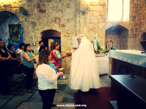 Festive Mass in Galilee - the holy land seals on the occasion of the  Blessed Virgin Mary Month.