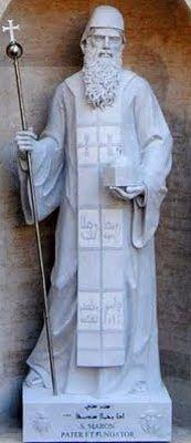 Statue of St. Maroun, St Peter's Basilica, Vatican City.
