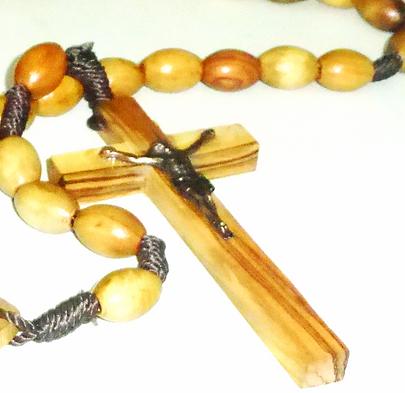 Catholic wooden Rosary