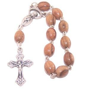Jerusalem Olive Wood Finger Rosary bracelet
