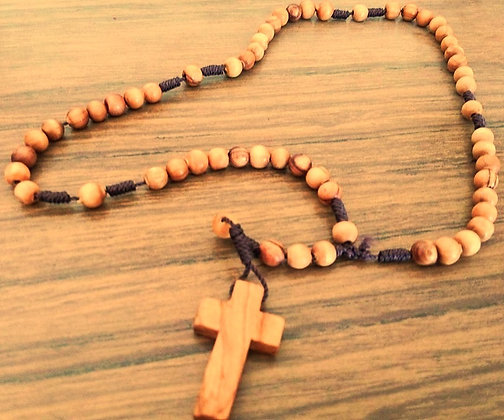 Packet 5 Jerusalem Olive Wood Rosary Beads + GIFT