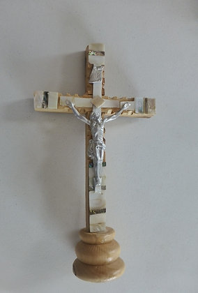 Olive wood Crucifix  from Holy Land with stand