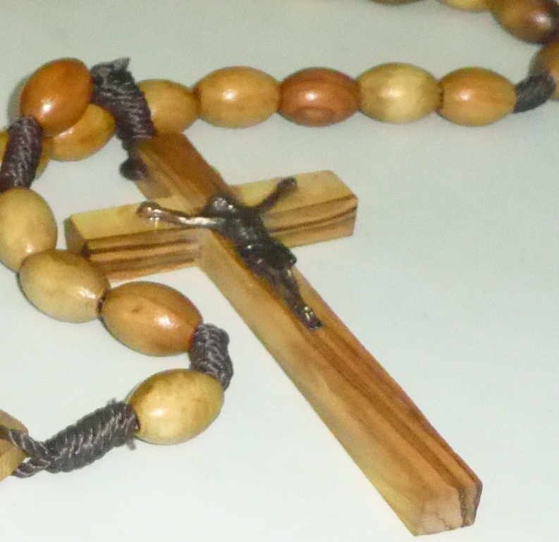 Large OliveWood Rosary Beads from Jerusalem