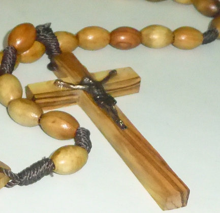 Catholic Large Wood Beads from Jerusalem Holy Land