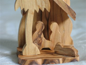 Nativity Scene Ornament from Bethlehem