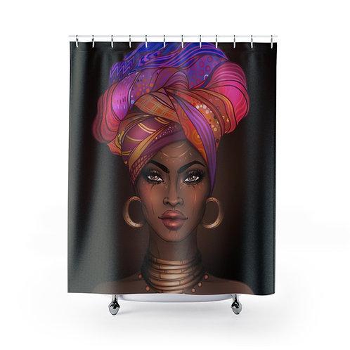 Goddess Multicolor Shower Curtain