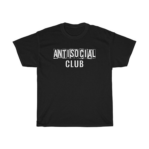 AntiSocial Club Unisex Heavy Cotton Tee