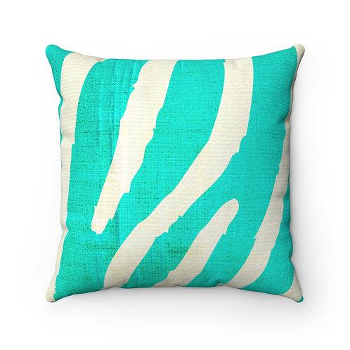 Zebra on the Green Pillow