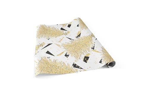 White Gold Trees Wrapping Paper Sheets