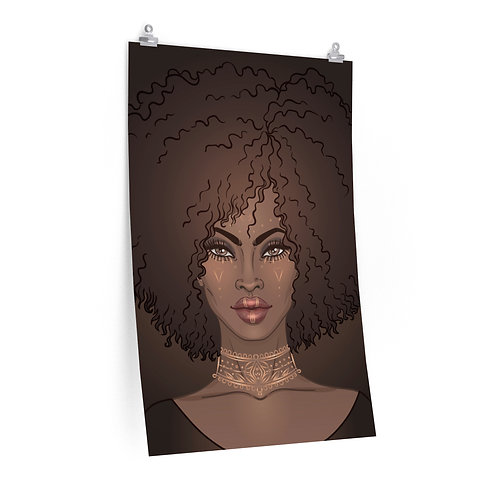 Soulfull Decorated Portrait - Brown