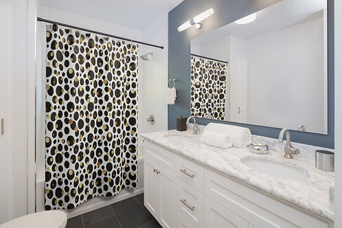 Goldie Dots Shower Curtain