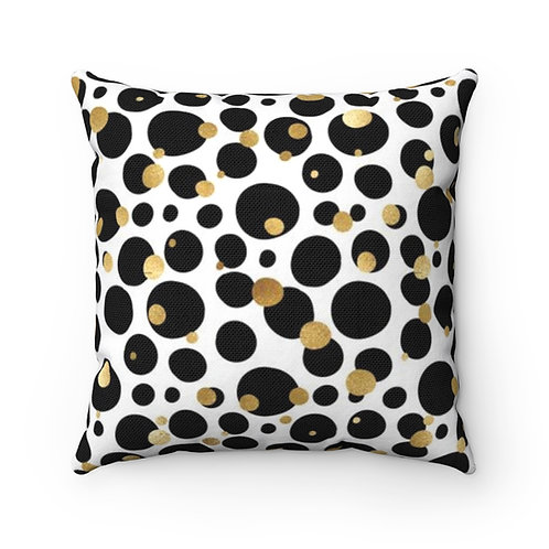 Goldie Dots Polyester Square Pillow