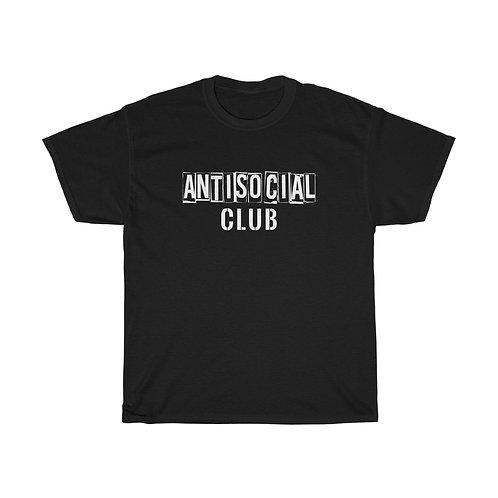AntiSocial Club Unisex Heavy Cotton Tee - Black
