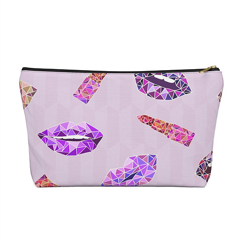 Holographic Kisses Accessory Pouch/Make Up Bag