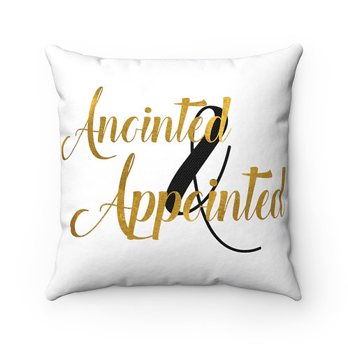 Anointed & Appointed Polyester Square Pillow