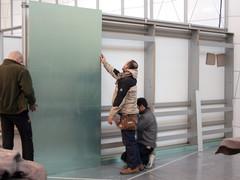 Ausstellungsaufba
