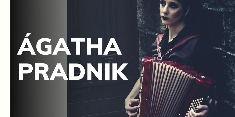 Show com a acordeonista Ágatha Pradnik