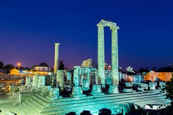 Didyma antique city at twilight Turkey.j