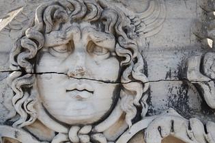 Medusa Gorgon in Apollo Temple Didyma Tu