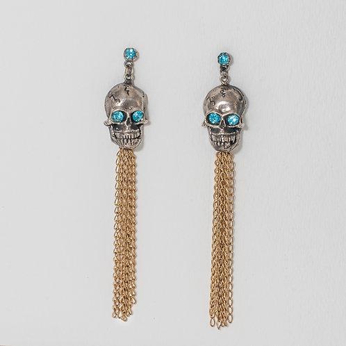 Calavera Earrings – Blue