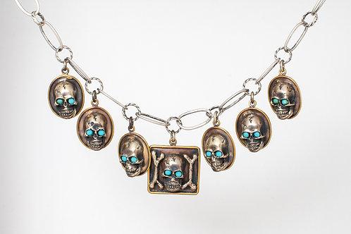Calavera with Pendants Necklace