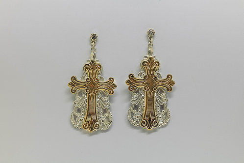 España Cross Earrings