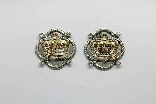 Crown Amulet Earrings