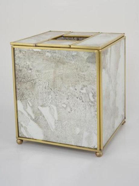 Tissue Box Cover brass trim
