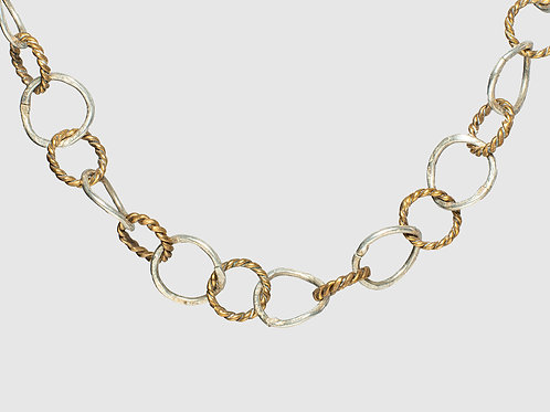 Pamela Silver and Gold Chain