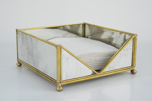 Standard Napkin Holder brass trim