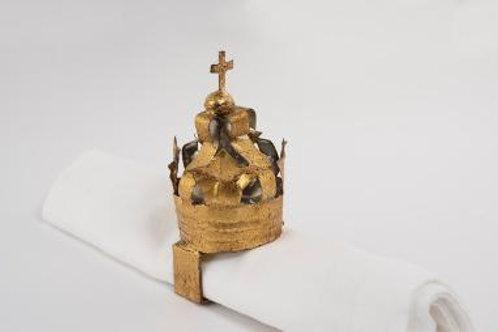 Napkin Ring Crown gold leaf