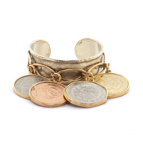 Four Coins Bracelet