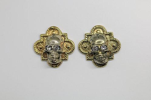 Calavera Triangle Earrings