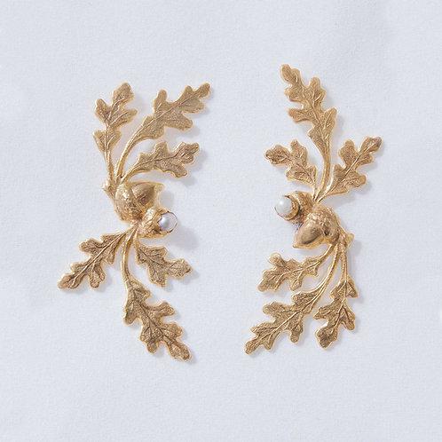 Oakleaf Gold Earrings