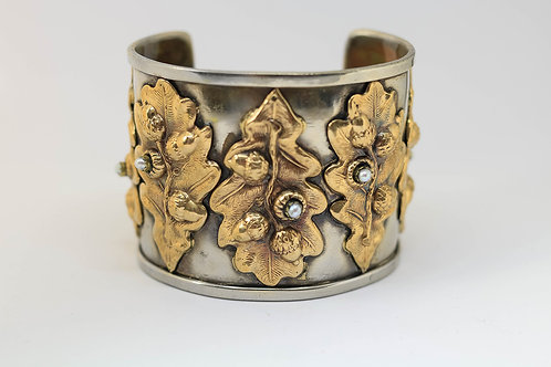 OakLeaf Silver and Gold Bracelet