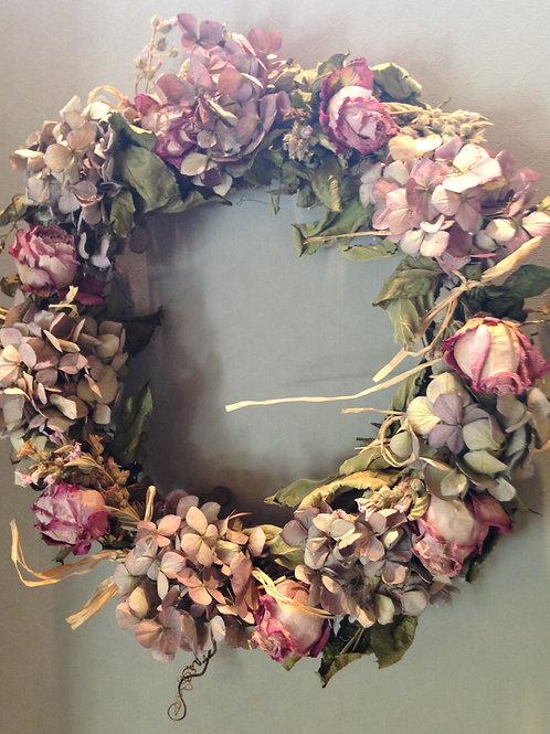 Krans van Hortensia & Baroque Rozen