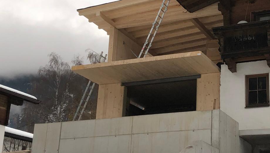 Zubau Wohnhaus mit Massiv-Holz-Mauer®