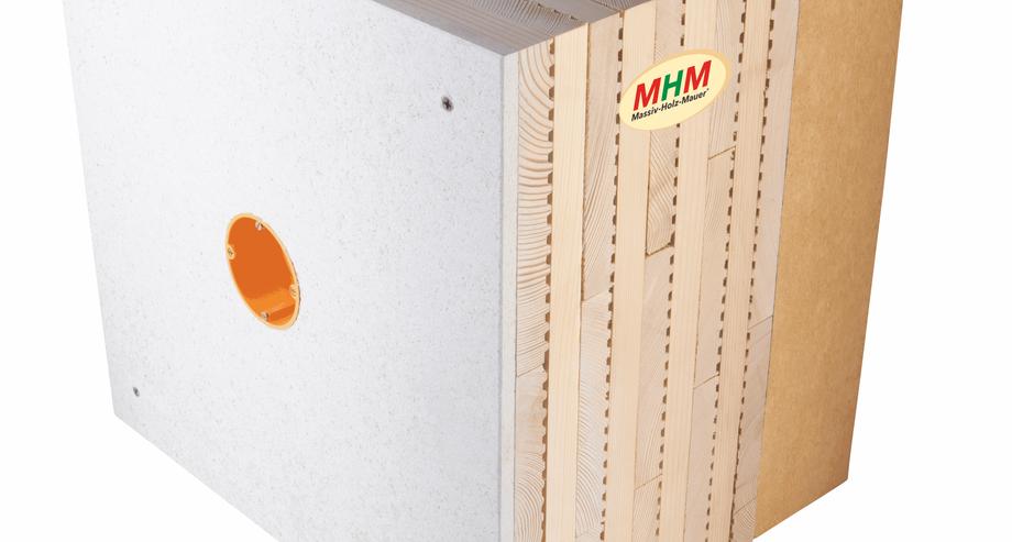 Massiv-Holz-Mauer® Aussenwandaufbau