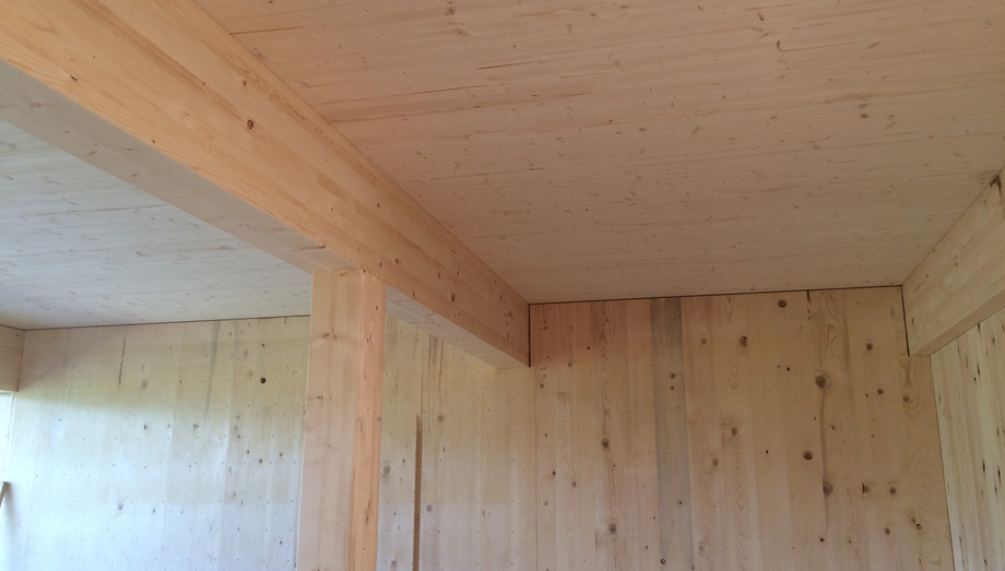 Decke BSP und Wand Massiv-Holz-Mauer®
