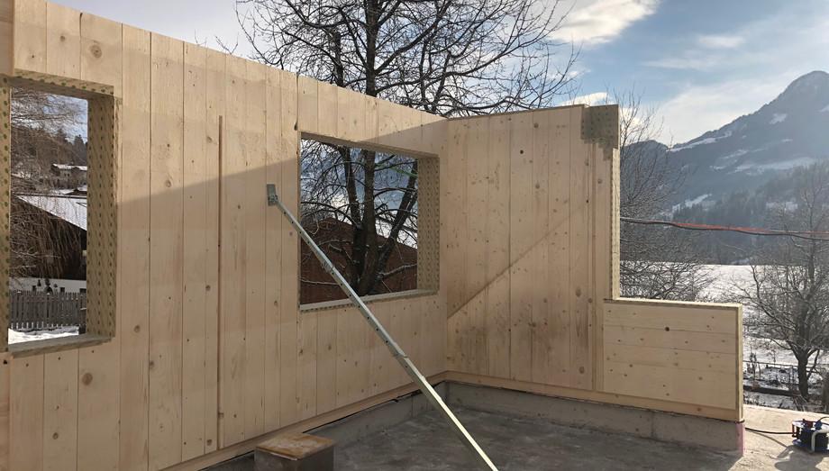 Montage EFH Massiv-Holz-Mauer®