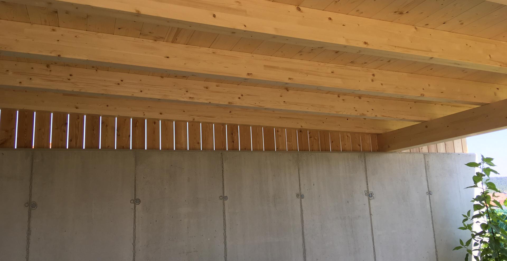 Dachkonstruktion in Brettschichtholz