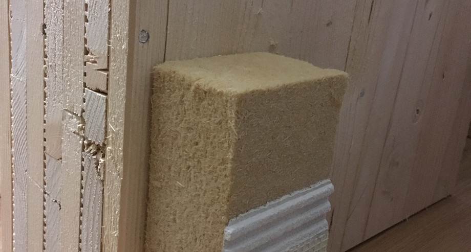 Modell Massiv-Holz-Mauer® mit Putzfassade