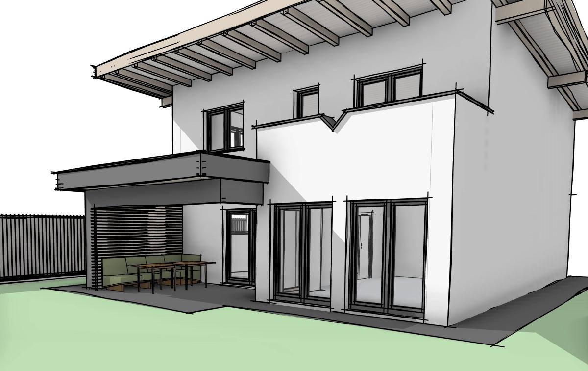 Planung Überdachte Terrasse