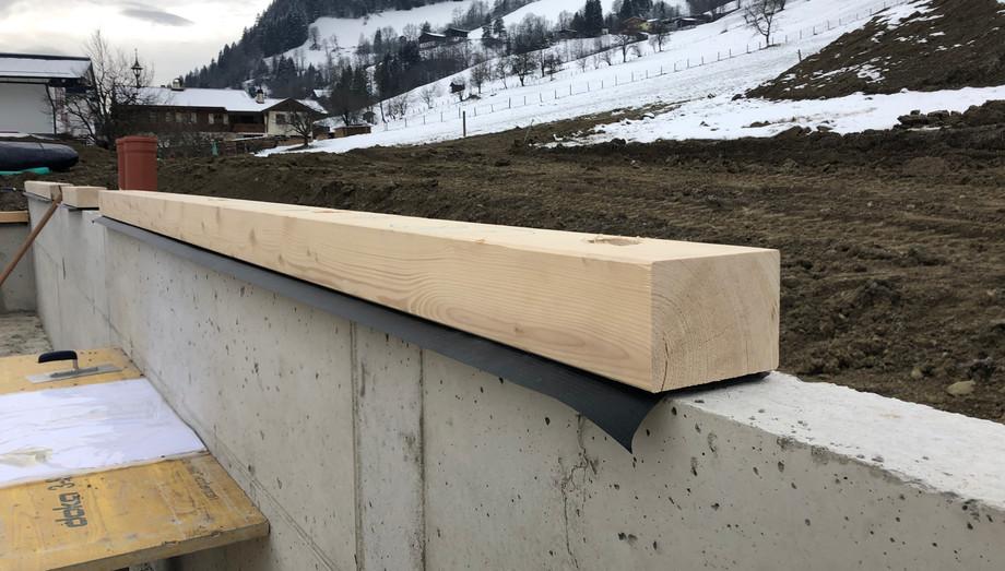 Montage Schwellen Massiv-Holz-Mauer®