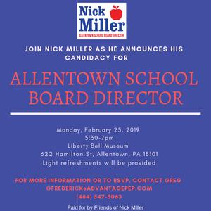Nick Miller Allentown School Board