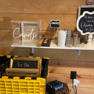 Numerous Small Chalkboards
