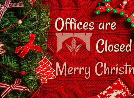 Offices Closed for Christmas week
