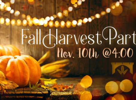 Fall Harvest Party RESCHEDULED