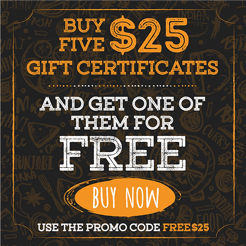 $25 Jinja Bistro Gift Certificate