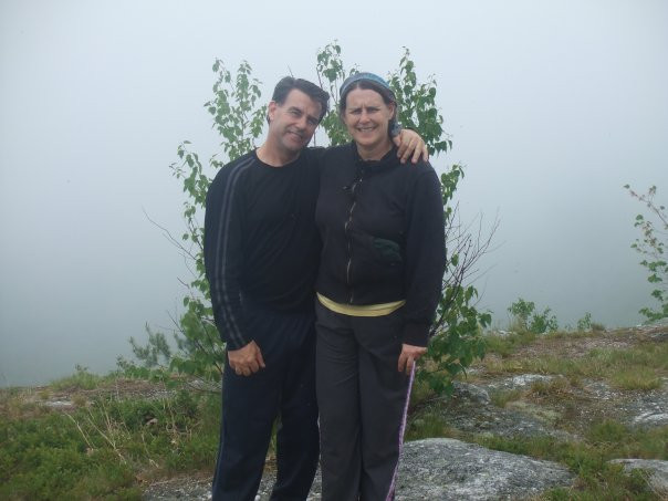 Kevin and my mother hiking on my birthday